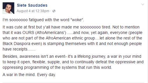 Asan and the word woke